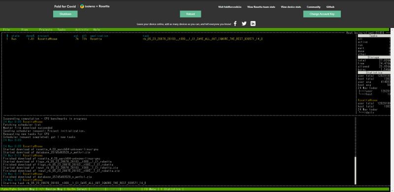 Fold for Covid のウェブUI画面